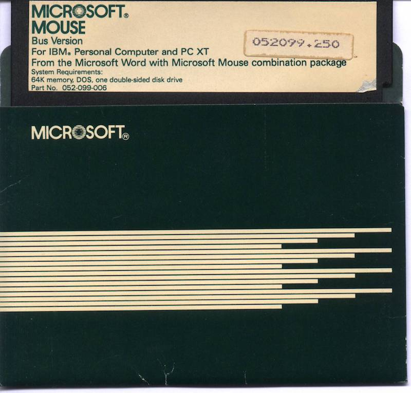 MS Mouse 2.50 Diskette