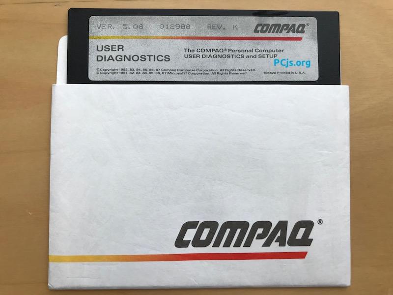 COMPAQ Diagnostics 5.08