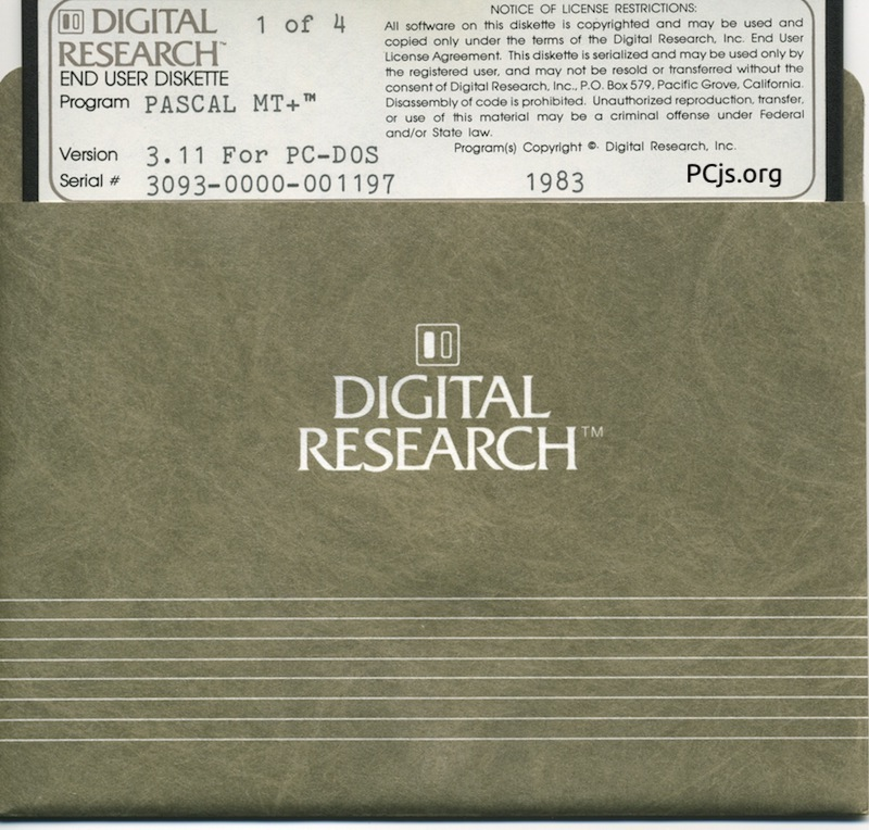 DR Pascal/MT+ 3.11 (Disk 1)