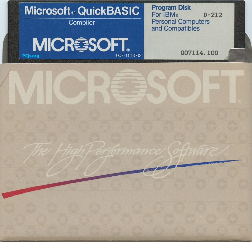 MS QuickBASIC 1.00