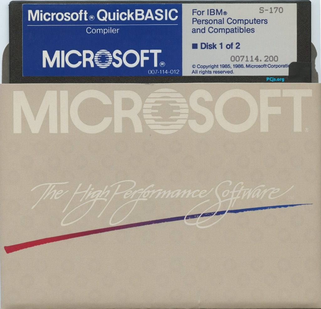 MS QuickBASIC 2.00 (Disk 1)