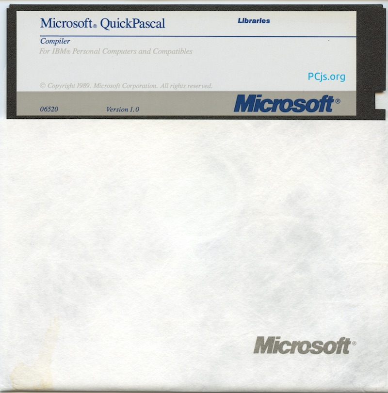 MS QuickPascal 1.00 (360K Disk 2)