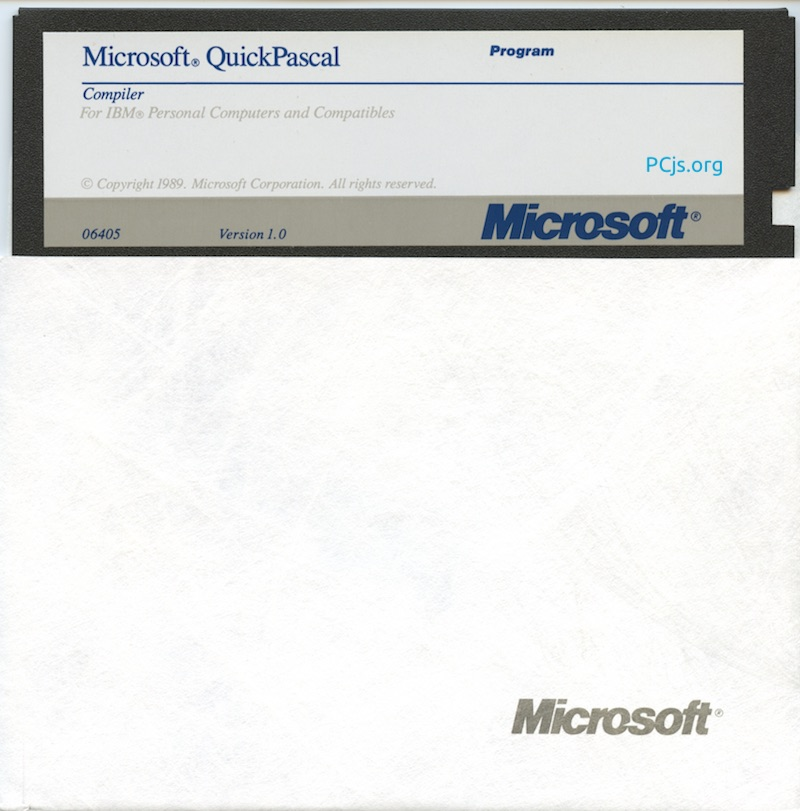 MS QuickPascal 1.00 (360K Disk 3)