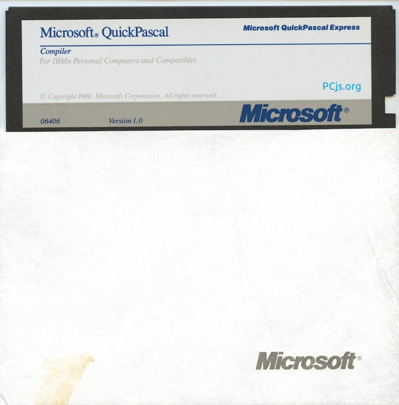 MS QuickPascal 1.00 (360K Disk 4)