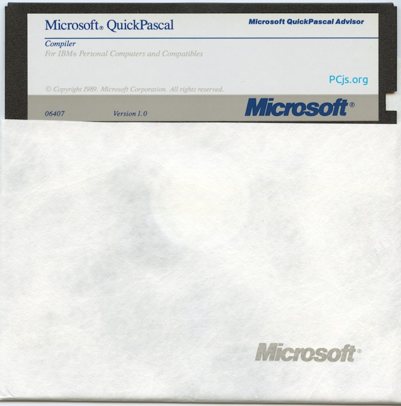 MS QuickPascal 1.00 (360K Disk 5)