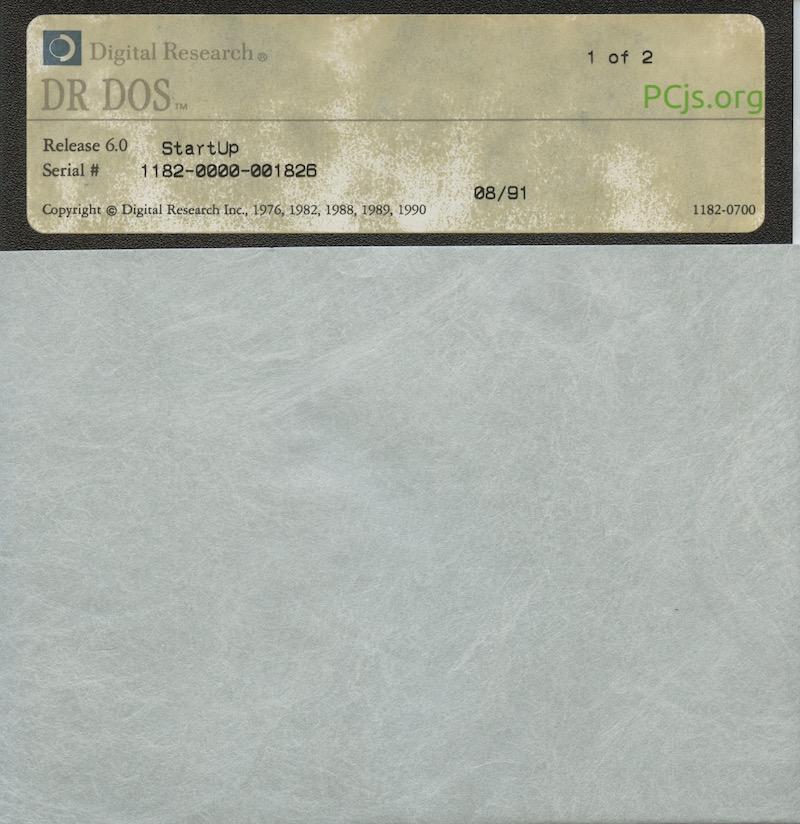 DR DOS 6.00 Disk 1