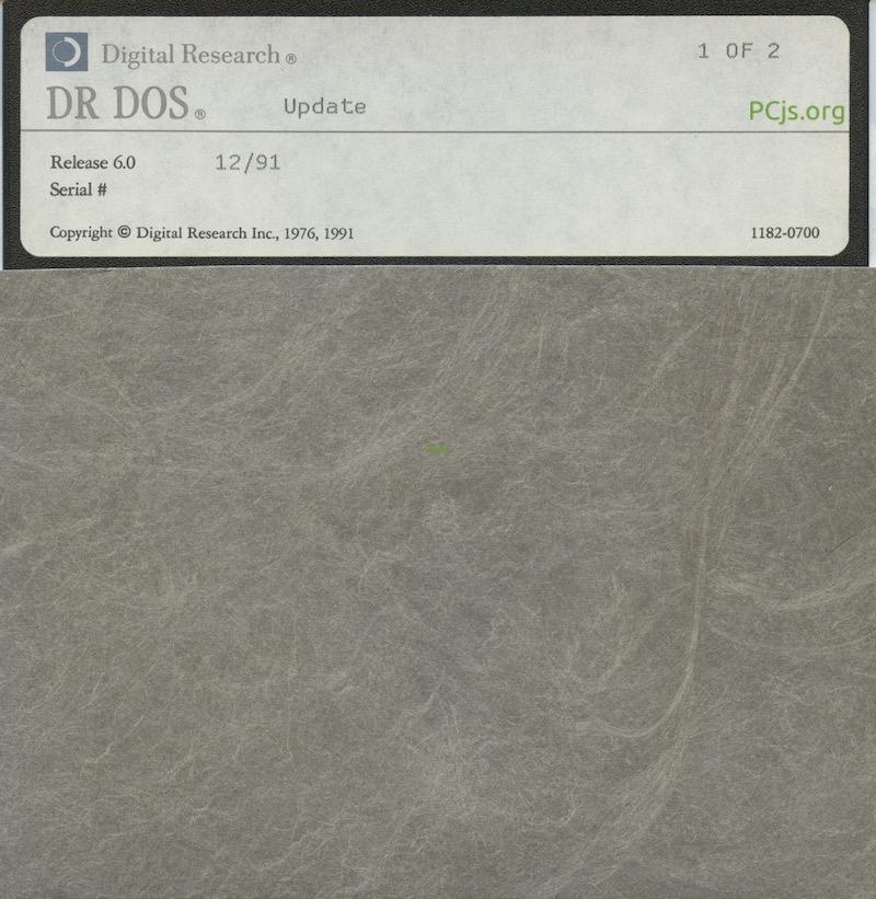 DR DOS 6.00 1991 Update Disk 1