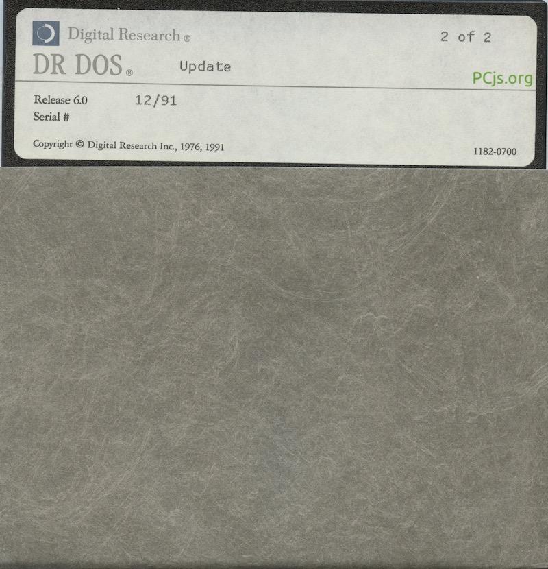 DR DOS 6.00 1991 Update Disk 2