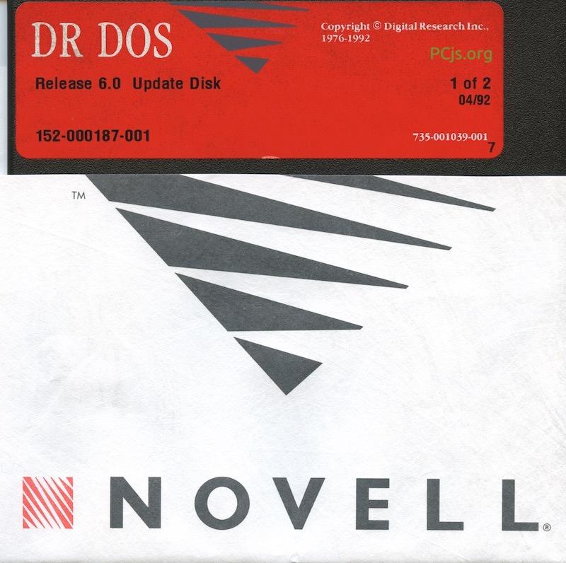DR DOS 6.00 1992 Update Disk 1