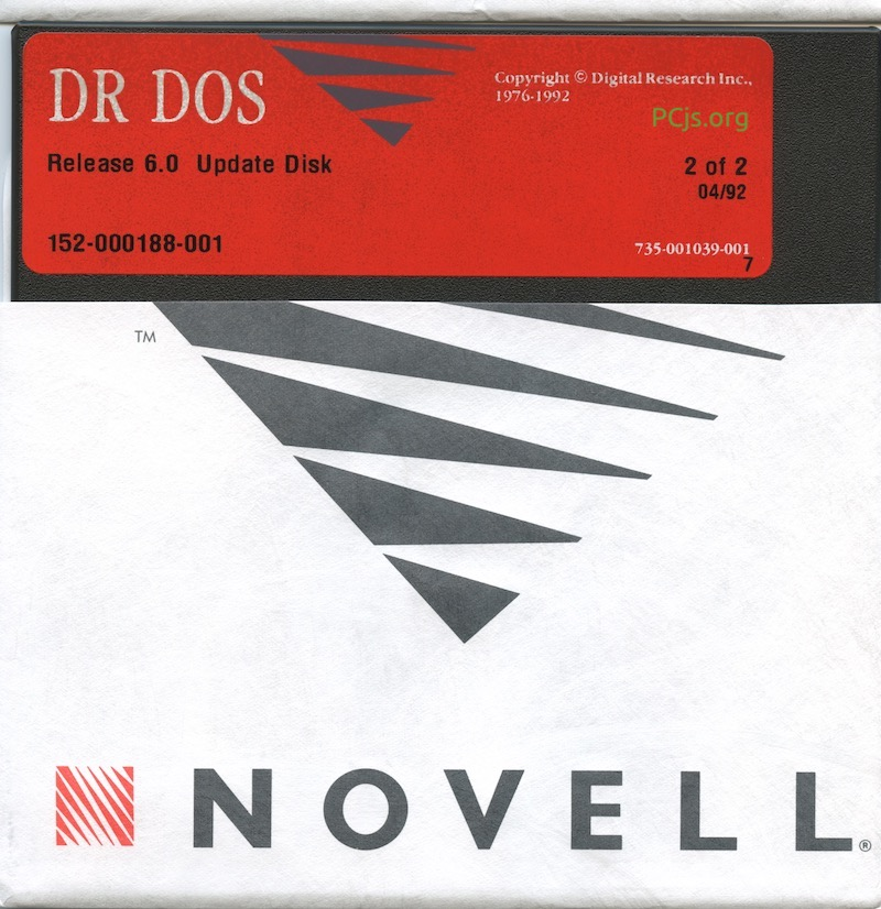 DR DOS 6.00 1992 Update Disk 2