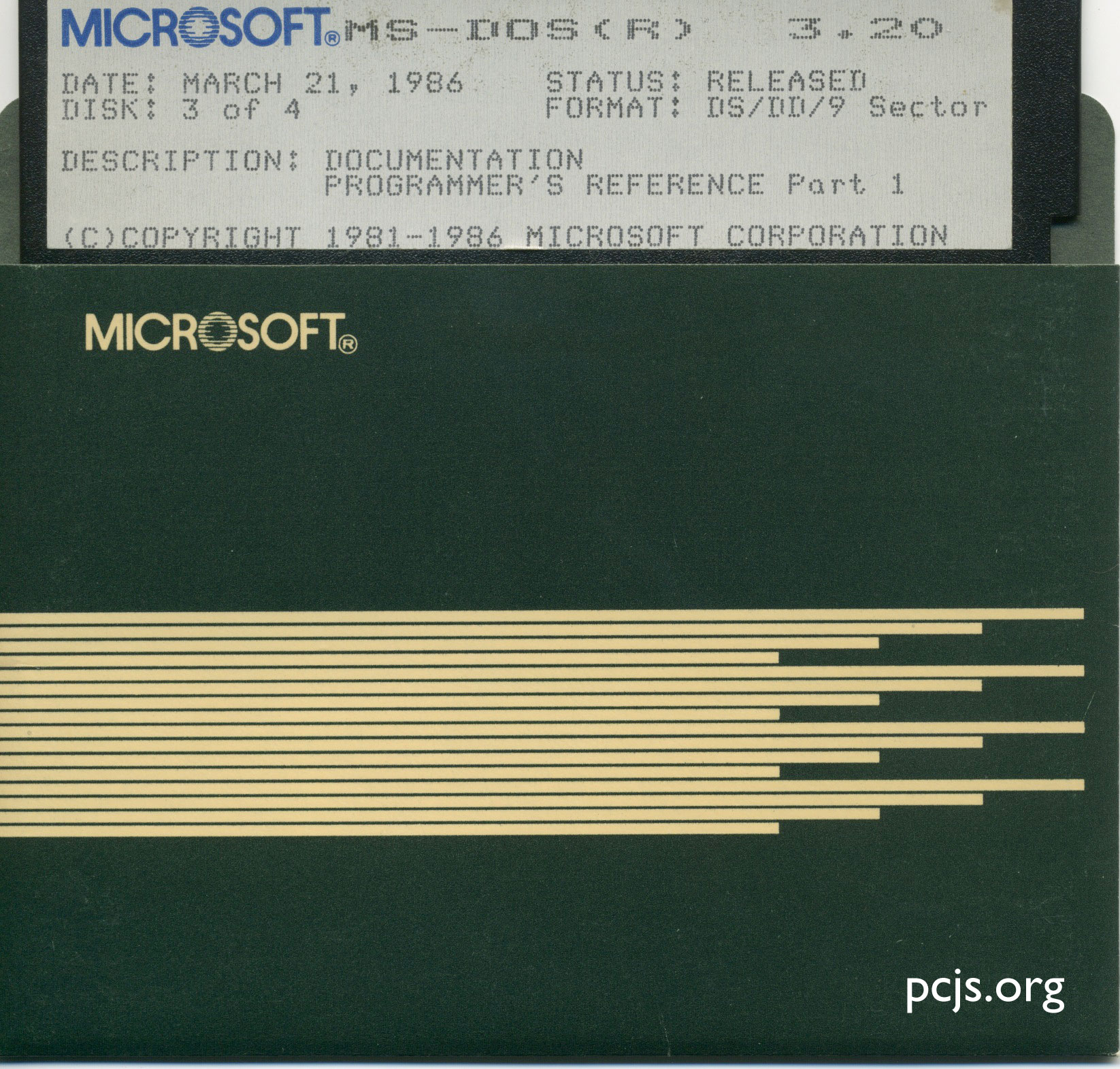 MS-DOS 3.20 Programmer's Reference