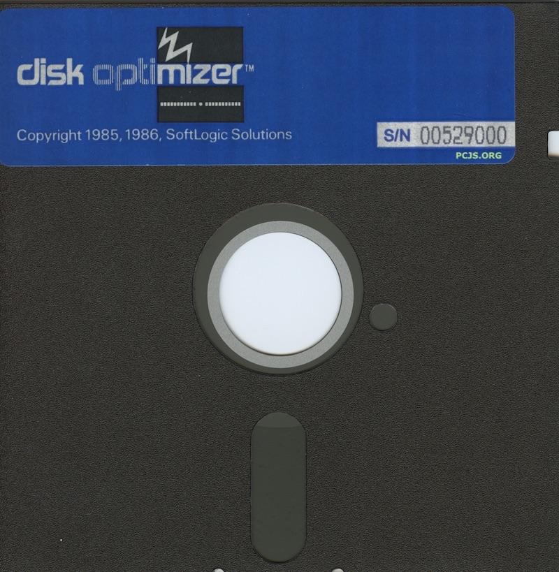 Disk Optimizer Diskette