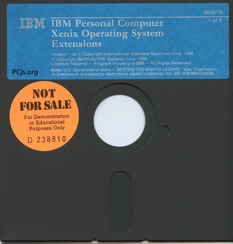 IBM PC XENIX 1.0 Extensions Disk 1