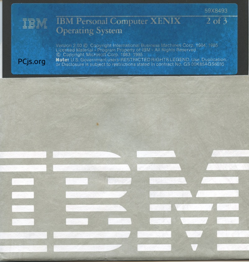 IBM PC XENIX 2.0 Disk 2