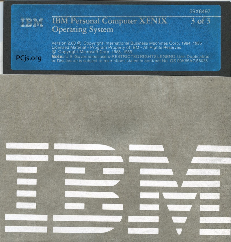 IBM PC XENIX 2.0 Disk 3
