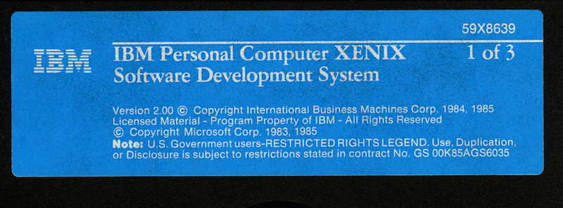 IBM PC XENIX 2.0 SDK 1