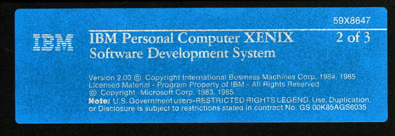 IBM PC XENIX 2.0 SDK 2